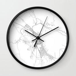 Minimal City Maps - Map Of Ioannina, Greece. Wall Clock