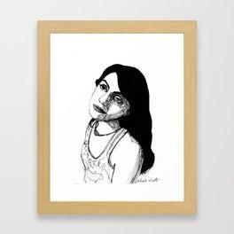 dark eyes  Framed Art Print