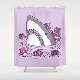 Birthday Princess Shark Shower Curtain