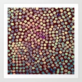 Grunge Dots Art Print