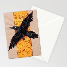 Crow 1 Stationery Cards