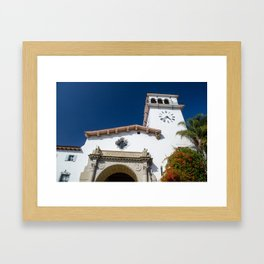 Looking Up Santa Barbara County Courthouse Framed Art Print
