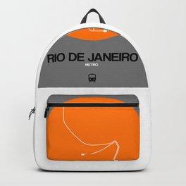Rio De Janeiro Orange Subway Map Backpack