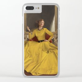 THE LADY Clear iPhone Case