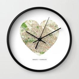 Berlin heart map Wall Clock