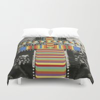 totem Duvet Covers featuring Totem by Naomi Vona