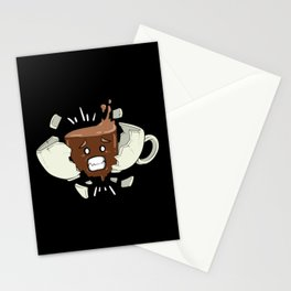 Coffee Shock - Funny Coffee Bean Gifts for Coffee Lovers Stationery Cards