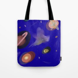 Space Story Tote Bag