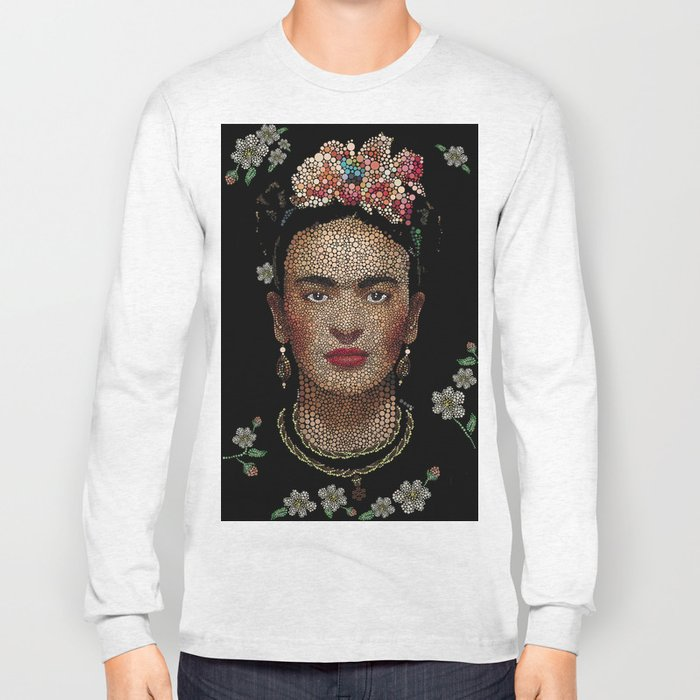Frida Kahlo dots Long Sleeve T-shirt