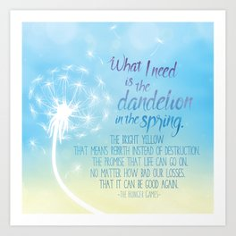 A Dandelion in the Spring Art Print