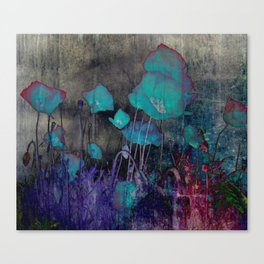 Poppies Abstract Canvas Print