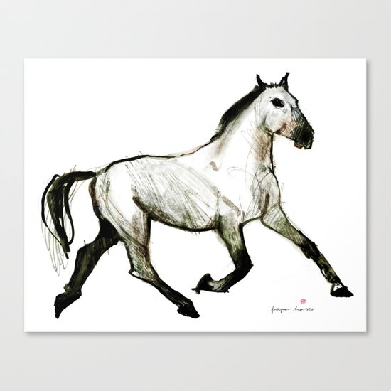 Horse (Trotter) Canvas Print