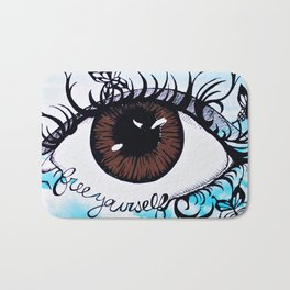 Free Yourself clouds Bath Mat
