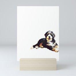 Bernedoodle  Mini Art Print