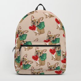 Be My Valentine Frenchie Backpack