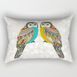 Facing owls Rectangular Pillow