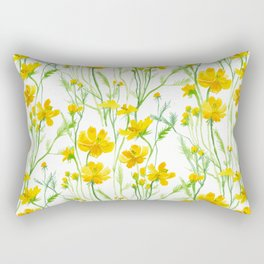 Yellow Field flowers Rectangular Pillow