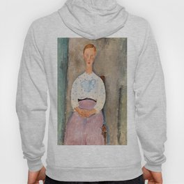 "Amedeo Modigliani ""Girl with a Polka-Dot Blouse (Jeune fille au corsage à pois)"" Hoody"