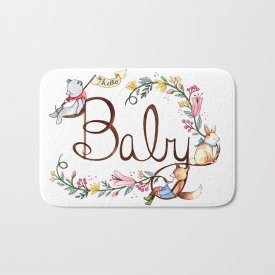 Hello Baby Bath Mat