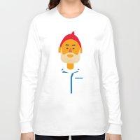 zissou Long Sleeve T-shirts featuring Steve Zissou by Marco Recuero