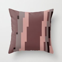 Mauve Pixels Throw Pillow
