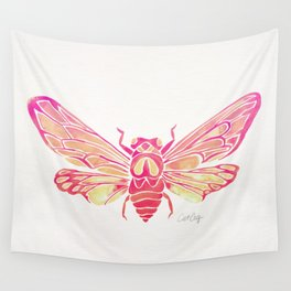 Summer Cicada – Pink Palette Wall Tapestry