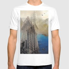 imposscape_01 MEDIUM Mens Fitted Tee White