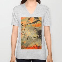 Abstract fabric designs Unisex V-Neck