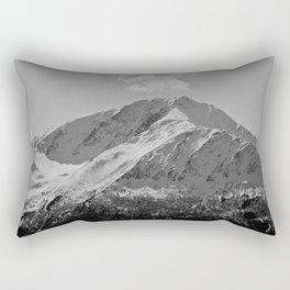 Snowy Alaskan Mountain Rectangular Pillow