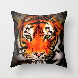Tiger in the Shadows Throw Pillow