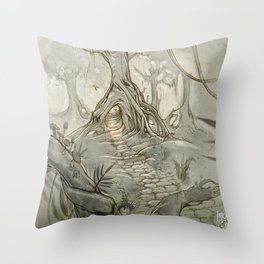 Drawings a Forest Throw Pillow