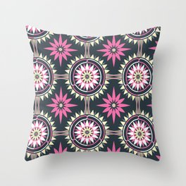 Daisy Chain (Patterned) Throw Pillow