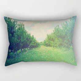 Apple Orchard in Spring Rectangular Pillow