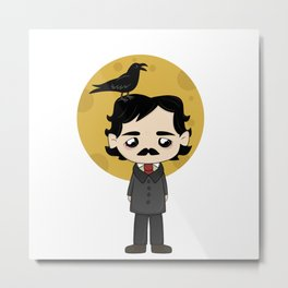 Cute Edgar Allan Poe Metal Print