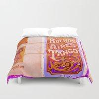 argentina Duvet Covers featuring Tango Buenos Aires, Argentina. by Alejandra Triana Muñoz (Alejandra Sweet