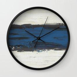 Blue Racing Stripe Wall Clock