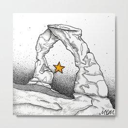 Delicate Arch (B&W) Metal Print