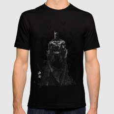 The night rises B&W Black MEDIUM Mens Fitted Tee