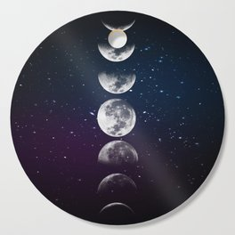 Phases of the Moon Cutting Board