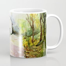 Beautiful Cottage Garden Painting Coffee Mug