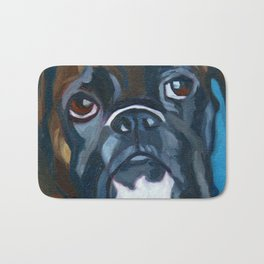 Boxer Lil E Dog Portrait Bath Mat