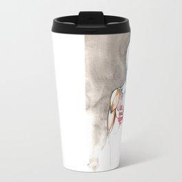 Non-apate, male back anatomy, NYC artist Travel Mug