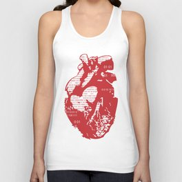 Binary heart Unisex Tank Top