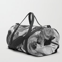 Bella Rose Black and White Duffle Bag
