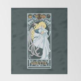 Odette Nouveau - Swan Princess Throw Blanket