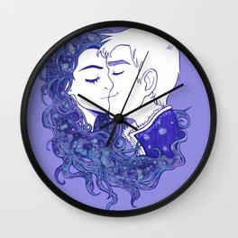 Lavender Snow Wall Clock