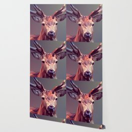 Colorful Polygons Abstract Deer Wallpaper