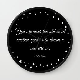 C.S. Lewis Dreams Wall Clock