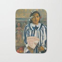 The Ancestors of Tehamana by Paul Gauguin Bath Mat