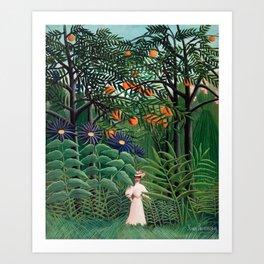 Henri Rousseau - Woman Walking in an Exotic Forest Art Print